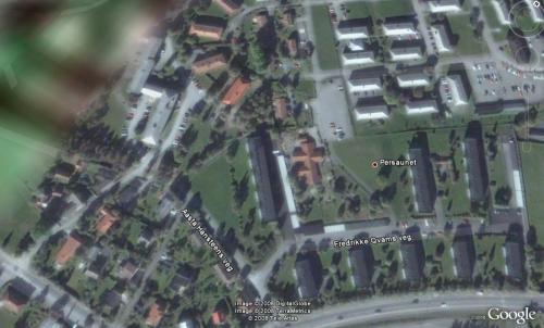 Persaunet i Google Earth