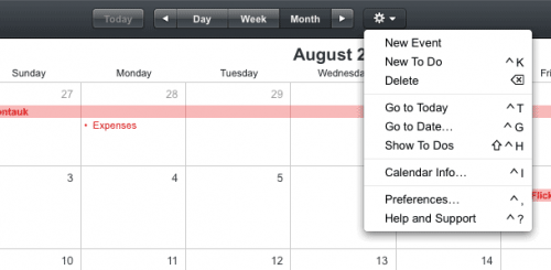 mobileme date selector rich UI example