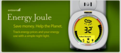 Belønnings-stjerne hos Ambient's energyjoule